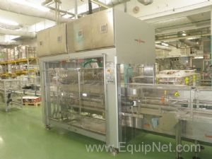 Vortex AN Automated Top Load Showbox Packing machine with Infeed Conveyoring systems