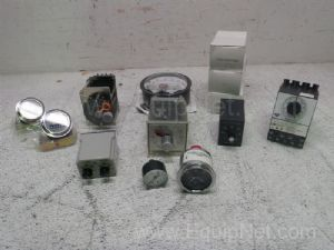 Lot of 12 Assorted Gauges & Relays