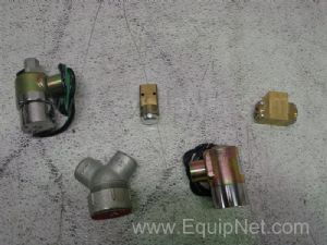 Lot of 5 Assorted 3-Way Valves
