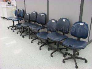 Lot of (8)Rolling Lab Chairs