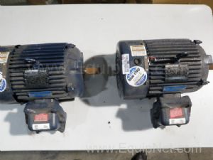 Lot of 2 Marathon Electric GL184TTGS4076ANL Motors 2HP