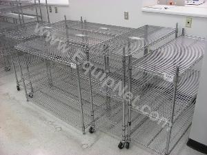 Lot of Misc Wire Style Racks and Rolling Racks
