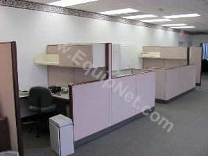 Lot of Office Cubicles