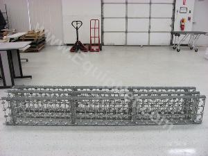 Lot of (3)10ft Rolling Conveyor