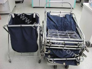 Lot of (7)Rolling Laundry Carts