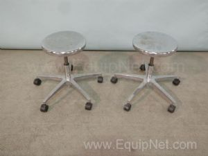 Lot of 2 Biofit Rolling Lab Stools