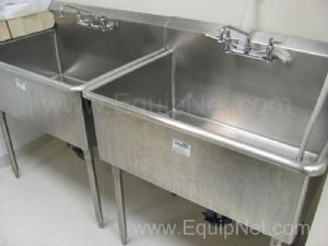 Lot of (2) Stainless Steel Single Basin Sinks