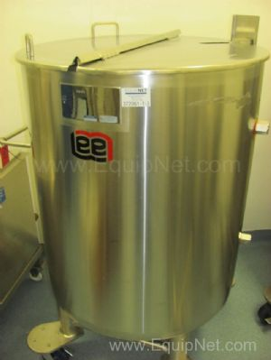 Lot of 2 Lee Stainless Steel Jacketed 100 Gallon Tanks Model 100U