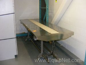 Mobile Conveyor Table with Strap Conveyor