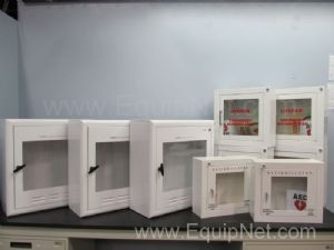 Lot of 9 Assorted Defibrillator Cabinets