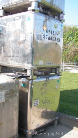 Lot of 10 Clawson Stainless Steel Portable 300 Gallon Totes