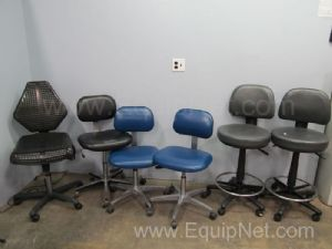 Lot of 6 Assorted Adjustable Laboratory Chairs