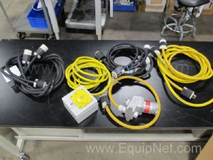Lot of Assorted High Voltage Electrical Extension Cables