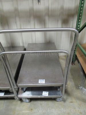 2 Jamco Stainless Steel carts 48x24x9 Deck