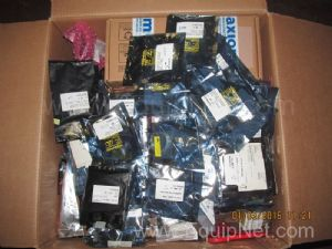 Box of Unused TI Bus Transceivers Hex Spacers and Miscellaneous Axiom Electrical Components