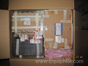 Box of Unused Murata and Tecan Mousers Screening Cans Mechanical Lids and Fences and Other Assorted
