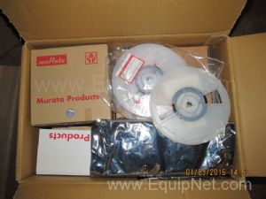 Box of Unused Murata Assorted Electrical Components