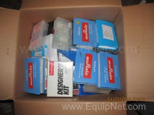 Box of Unused Murata Design Kits and Other Assorted Electrical Components
