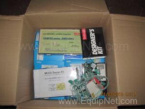 Box of Unused Design Kits Cermaic Capacitors and Other Assorted Electrical Components