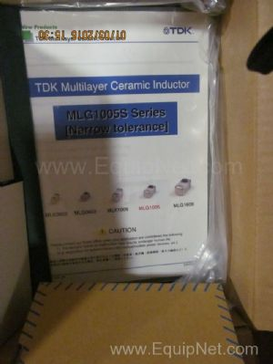 Box of Unused TDK Multilayer Ceramic Inductors and Other Assorted Electrical Components