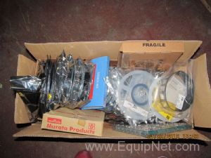 Box of Unused Murata and Other Assorted Electrical Components