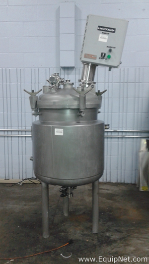 Precision Stainless 100 Liter Stainless Steel Jacketed Tank with Agitation