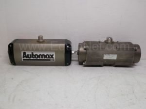 Lot of 2 Automax Spring Loaded Pneumatic Actuators
