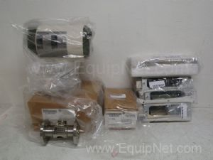 Lot of 8 various manufacturers parts for flowmeters