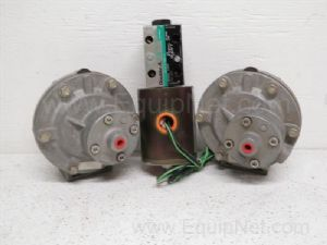 Lot of 3 Goyen Controls model RCA45T2 Diaphragm valve with a Double A Direct Valve