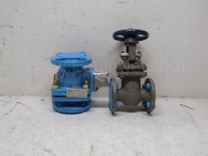 Lot of 2 various manufacturers Valve and Gate Valve