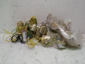 Lot of 11 various manufacturers, various model solenoid valves