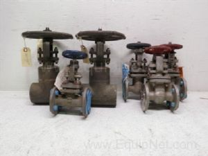 Lot of 6 various manufacturers three-quarters to one and one-half inch gate Valves
