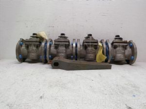 Lot of 4 Durco 2-inch 150 lb 2 way Flanged Plug Valves