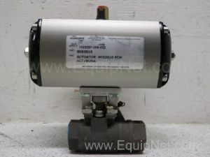 Flowserve model B063S10FCW ACT/NUNA Pneumatic Actuator with three-quarters inch Ball Valve