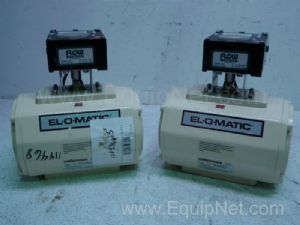 Lot of 2 El-O-Matic PMV Pneumatic Positioner P5 Valve Control Systems