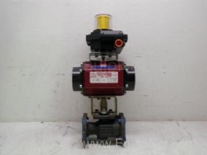 Watts Industries PAS1000M3 Pneumatic actuator with one and one-half inch Flanged Ball Valve