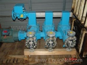 One Set of 3 American Lewa Freon Injection Metering Pumps