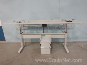 Bostontec Stainless Steel Adjustable Height Workbench