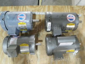 Lot of 4 Baldor Electric Motors