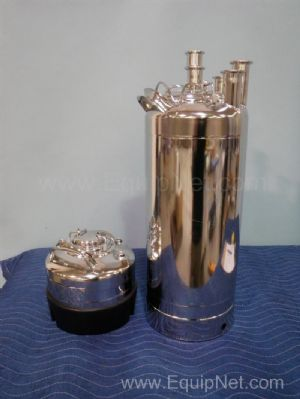 Lot of 2 Alloy Products Pressure Vessels
