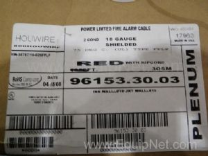 Houwire 96153.30.03 Approximately 600 Feet of Alarm Wire