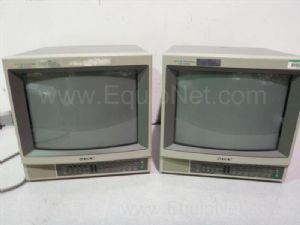 Lot of 2 Sony Trinitron 13-inch CRT Color Video Monitors