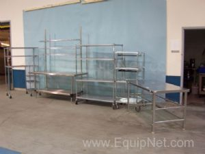 Lot of (5) Assorted Tables and Carts