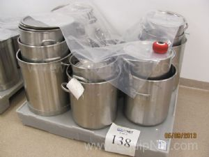 Lot of Approximately 27 Assorted Stainless Steel Kettles