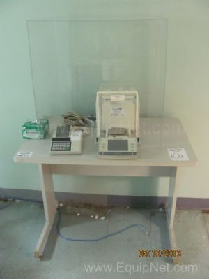 Mettler Toledo AX105 Deltarange Analytical Balance with Antivibrational Table and Printer
