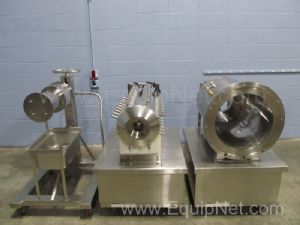 Lot of 3 Stainless Steel Horizontal Decanter Centrifuge Parts