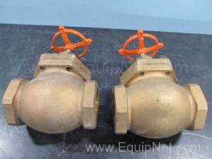 Lot of 2 CP Co Brass 3 Inch Globe Valves