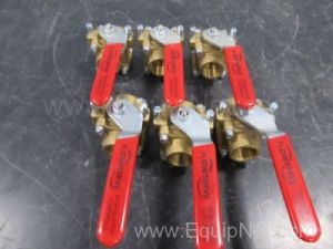 Lot of 6 Flowserve .75 Inch Ball Valves