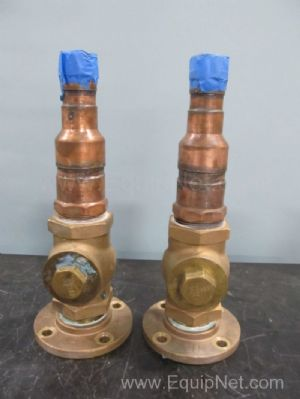 Lot of 2 Sarco 3 Inch Copper Check Valves