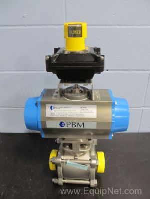 PBM Valve PAVBL453S 2.5 Inch Actuated Ball Valve With Valve Position Monitor